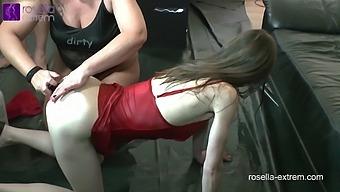 Karina And Rosella Swallow Anal Piss! Dirty Ass Pee!