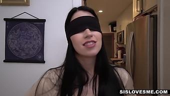 Playful Blindfolded Brunette Gf Alex Coal Gets Her Wet Pussy Banged Hard