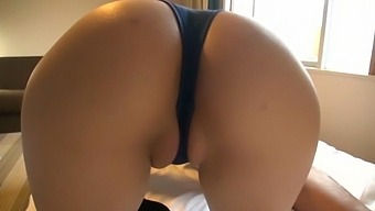 Hot Ass Japanese Model Kaede Mai Drops On Her Knees To Blow
