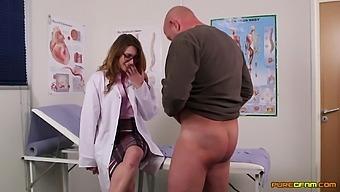 Female Nurses Share Cock In The Most Intimate Cfnm Threesome