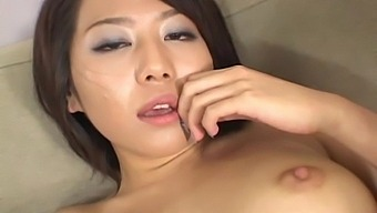 Solo Babe Tsubasa Okina Tries Out A New Toy On Her Hairy Pussy