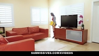 Submissived - Sexy Innocent Teen Brenna Sparks Fucked And Punished By Stepdaddy