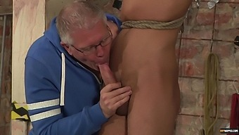 Horny Man Enjoys Getting His Large Cock Sucked By A Mature Gay
