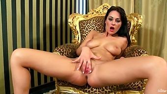 Brunette Solo Model Dana Weyron Spreads Her Legs To Masturbate