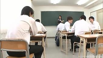 Japanese Teacher Ishihara Kyouka Gets Busy While On The Job