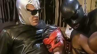 2 Latex Men Fist Fuck Masked Ebony Submissive