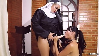 Nuns Are Using The Strap-On To Complete Their Lezzie Fantasy