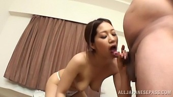 Cum In Mouth Ending For A Cute Japanese Babe Who Swallows