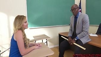 Bald, Black Guy Is Fucking Britney Light From The Back, After She Gave Him A Blowjob