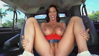 Energized Milf Handles Cock In The Bang Bus Express