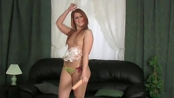 Solo Redhead Lara Lee Sucks And Inserts A Dildo In Her Wet Cunt
