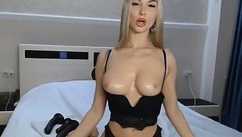 Perky Tits Blonde Toying Cunt