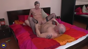 Short Haired Blonde Is About To Cheat On Her Husband, Because She Is Extremely Horny