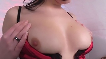 Solo Brunette Girl Moans While Playing With Some New Sex Toys