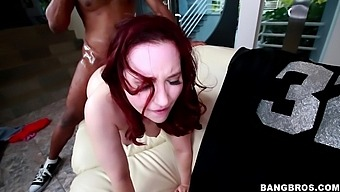 Redhead Babe Lily Sincere Gets Her Cunt Banged By A Black Guy