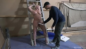 Submissive Blonde Endures Rough Treatments For Her Fatty Cunt