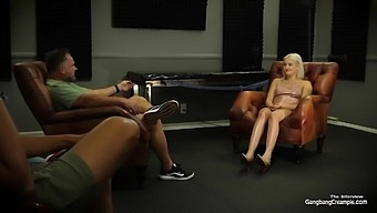 Busty Blonde Fucks The Group And Swallows Cum With Scotty P, Randy Denmark And Eddie Jaye