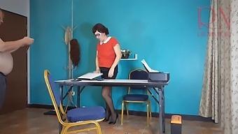 Sexretary Secretary Shows Pussy The Boss Shoots A Naked Secretary On Video