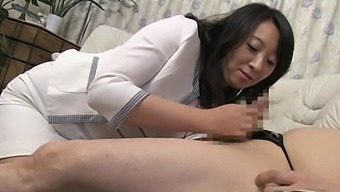 Brunette Cougar Loves Nothing More Than Playing With A Hard Cock