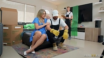 Builder Fucks Horny Wife And Fills Her Mature Cunt With Sperm
