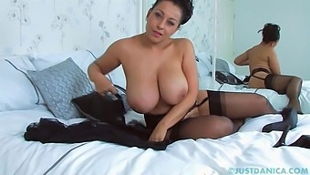 Solo Mature Wife Danica Collins Fingers Her Pussy On The Bed