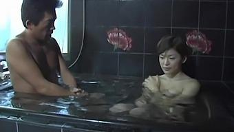 Kinky Japanese Girl Hijiri Kayama Playing With A Dick In The Shower