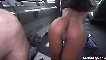 Interracial Fucking In Back Of The Van With Adorable Ivy Young