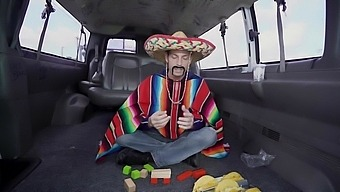 Mexican Guy Deep Fucks A Gorgeous Woman In The Bang Bus