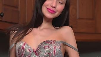 Closeup Video Of Pretty Milana Myles Fingering Her Wet Hole