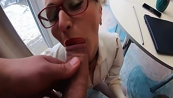 Horny Teacher Sucking Big Cock And Ass Fucking Until Cum On Glasses 8 Min