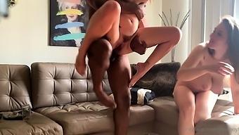 Small Tit Blonde With Tattoos Fucks Big Cocks