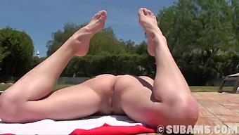 Stunning Girl Brook Shows Off Her Irresistible Body By The Pool