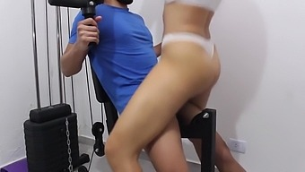 I Fuck My Personal Trainer Without A Condom In The Gym. Creampie In My Pussy!