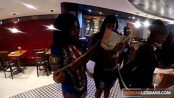 Real Life Ebony Roommates Having Lesbian Anal Fun