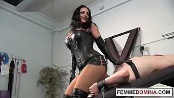 Leather Mistress Smothered Bound Submarine With A Big Ass