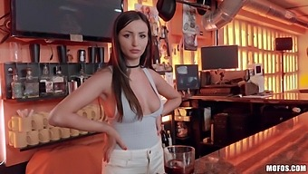 Romanian Babe Alyssia Kent Gives Her Head And Gets Fucked In A Bar