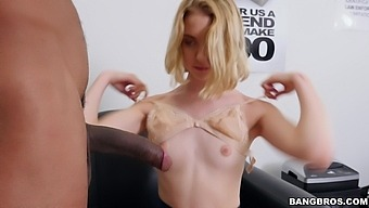 Interracial Fucking On The Office Table With Small Tits Chloe Cherry