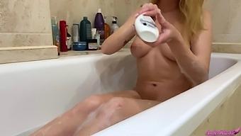 Sexy Blonde Sensual Masturbate Pussy Until Orgasm In The Bathroom