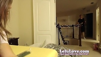 Webcam Girl Strips Rides Sybian To Big Orgasm Then Takes Bath - Lelu Love