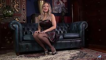 Horny Solo Model Beth Bennett Moans While Fingering Her Wet Slit