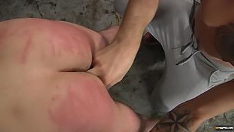 Nasty Man Enjoys While His Dirty Friend Fucks His Tight Ass