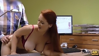 Red-Haired Beauty Has Dirty Sex For Cash For Pet Surgery