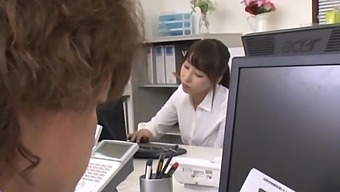 Clothed Japanese Office Female Gets Laid With The Boss
