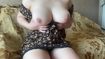 Busty Wife Masturbates On Webcam