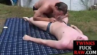 Twink Bareback Sucking Cock To Cum Outdoors