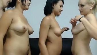 Dancing Naked Hotties Teasing Cam