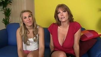 Mature Shares A Dick With A Cute Babe - Darla Crane & Kimberly Kiss