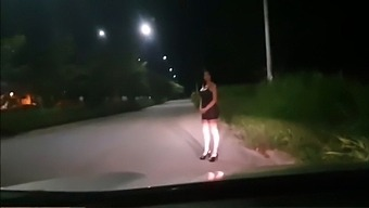 Martinasmith Dress Up As A Whore And A Stranger Pays Her For Fucking Into His Car
