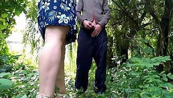 Gorgeous Stranger Pissing Outdoors And Helping Me Cum