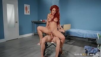 Danny D And Jordan Jagger In Fiery Redhead Milf Screwed By Cock